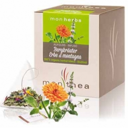 Organic mountain herbs tea...