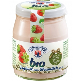 Organic yogurt strawberry...