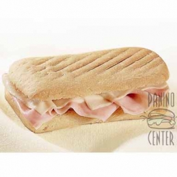 Ciabatta with cooked ham...