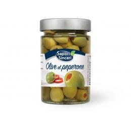 Olive verdi al peperone 6 x...