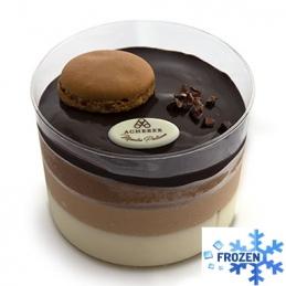 Dessert 3 chocolates in a...